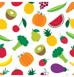 Fruit and vegetables seamless pattern vector image vector image