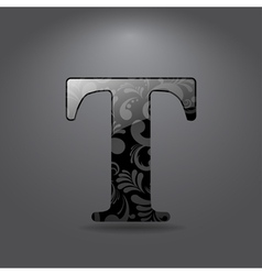 Letter T vector image vector image
