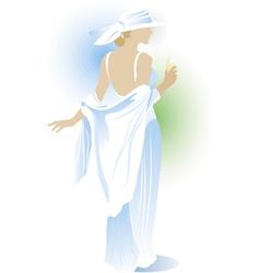 beauty woman vector image