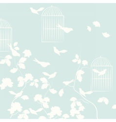 Pigeons birds background vector image