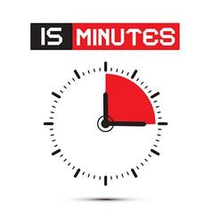 Fifteen Minutes Stop Watch - Clock vector image
