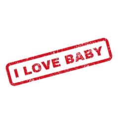 I Love Baby Text Rubber Stamp vector image vector image