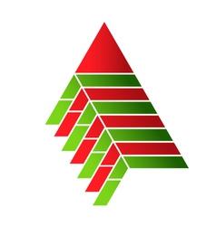 Pyramid food assembly Logo vector image vector image