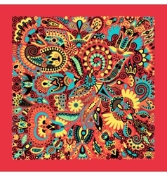 ukrainian traditional ethnic painting floral vector image vector image