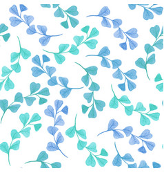 floral seamless pattern with green leaves vector image vector image
