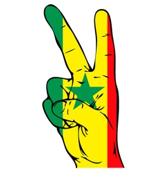 Peace Sign of the Senegalese flag vector image vector image