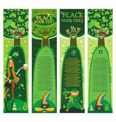 St. Patrick's Day banners vector image vector image