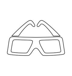 3d glasses icon Movie design graphic vector image