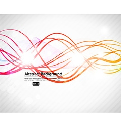 Abstract Background with Curved Lines vector image