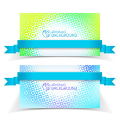 abstract light banner set vector image