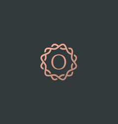 Abstract linear monogram letter o logo icon design vector