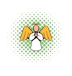Angel icon comics style vector