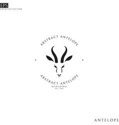 antelope springbok logo vector image