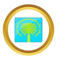 Artificial Islands in UAE icon vector image