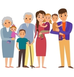 Big Family portrait vector