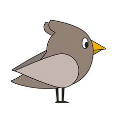 bird cute cartoons vector image