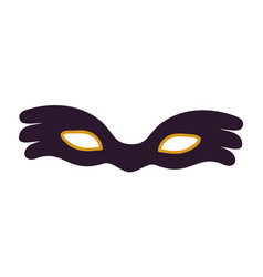 black carnival mask icon vector image