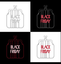 black friday traditional sale after thanksgiving vector image