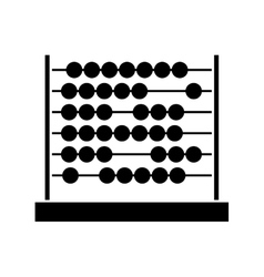 Black silhouette abacus with base and spheres vector