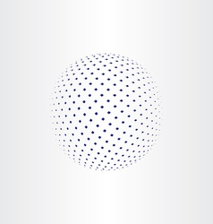 Blue halftone globe icon vector