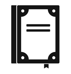 Book publication icon simple black style vector