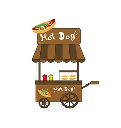 booth stand hot dog vendor vector image
