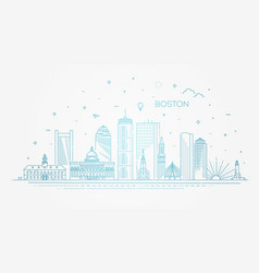 boston architecture line skyline vector image