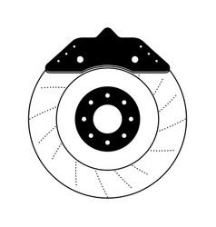 brake disc auto spare part mechanic system vector image