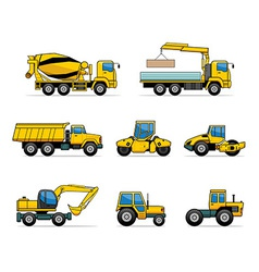 building machines vector image