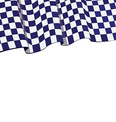 Checkered violet flag racing top banner vector image