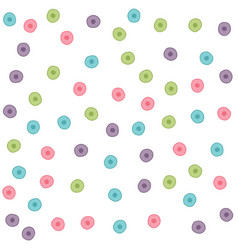colorful hand drawn circle pattern background vector image