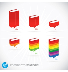 Comments Statistic Symbols vector image