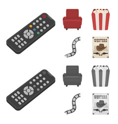 Control panel an armchair for viewing popcorn vector