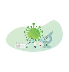 Coronavirus covid-19 virus vaccine analysis with vector