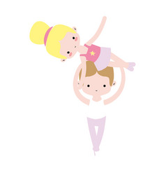 Couple dancing ballet with elegance clothes vector