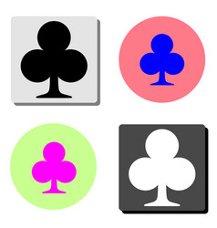 cross suit flat icon vector image