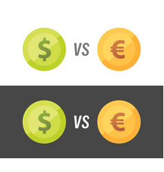 currency pair of euro vs dollar vector image