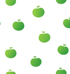 cute seamless pattern green apples vector image