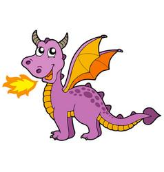 cute small dragon vector image