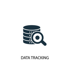 Data tracking icon simple element vector
