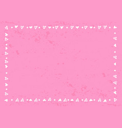 decorative frame of hearts and dots in white on vector image