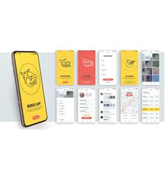 Design mobile application ui ux vector