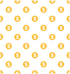 dollar seamless pattern gold coins money profit vector image