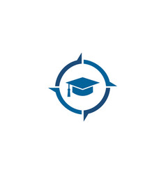 Education symbol cap iconguidance symbol vector