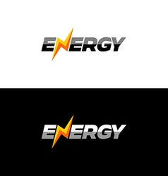 Energy text logo vector image