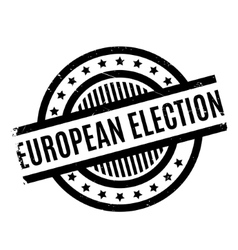 European Election rubber stamp vector image