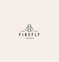 firefly logo hipster retro vintage icon design vector image
