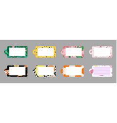 flat style notes labels stickers vector image