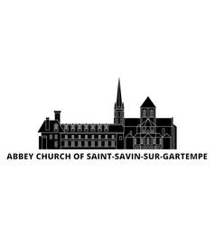 France abbey church of saint savin sur gartempe vector