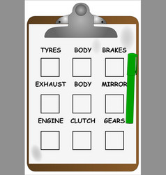 Garage clipboard vector